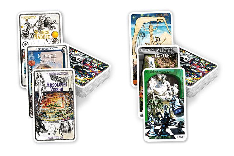 Zvýhodněná Sada – Tarot Astrální A Karmická Arkána – 2 X 22 Karet S Návodem