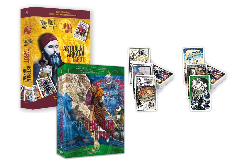Velký Tarotový Balíček – Kniha Astrální Arkána + Tarot AA, Kniha Stigmata Karmy + Tarot KA